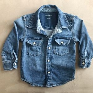 GAP Toddler Denim Button Snap Shirt